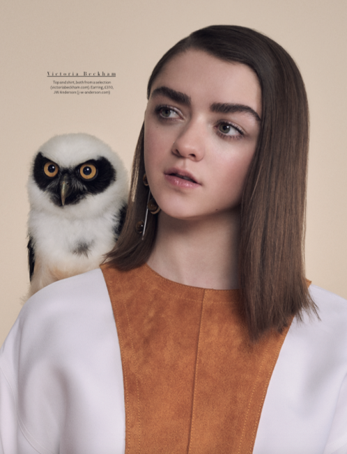 instyle | maisie williams