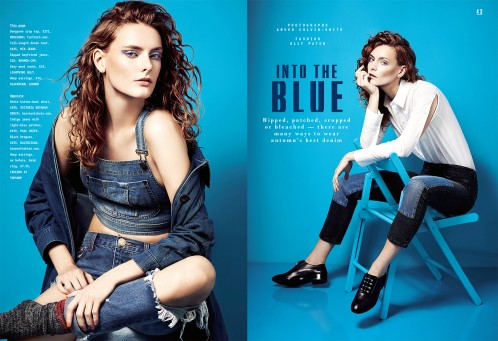 style   into the blue
