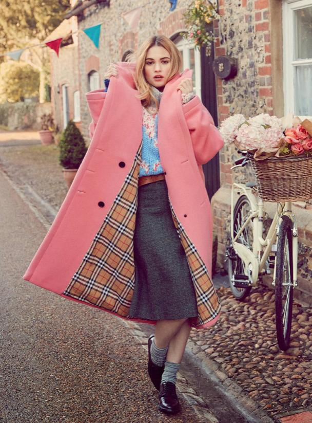Harpers Bazaar | Lily James