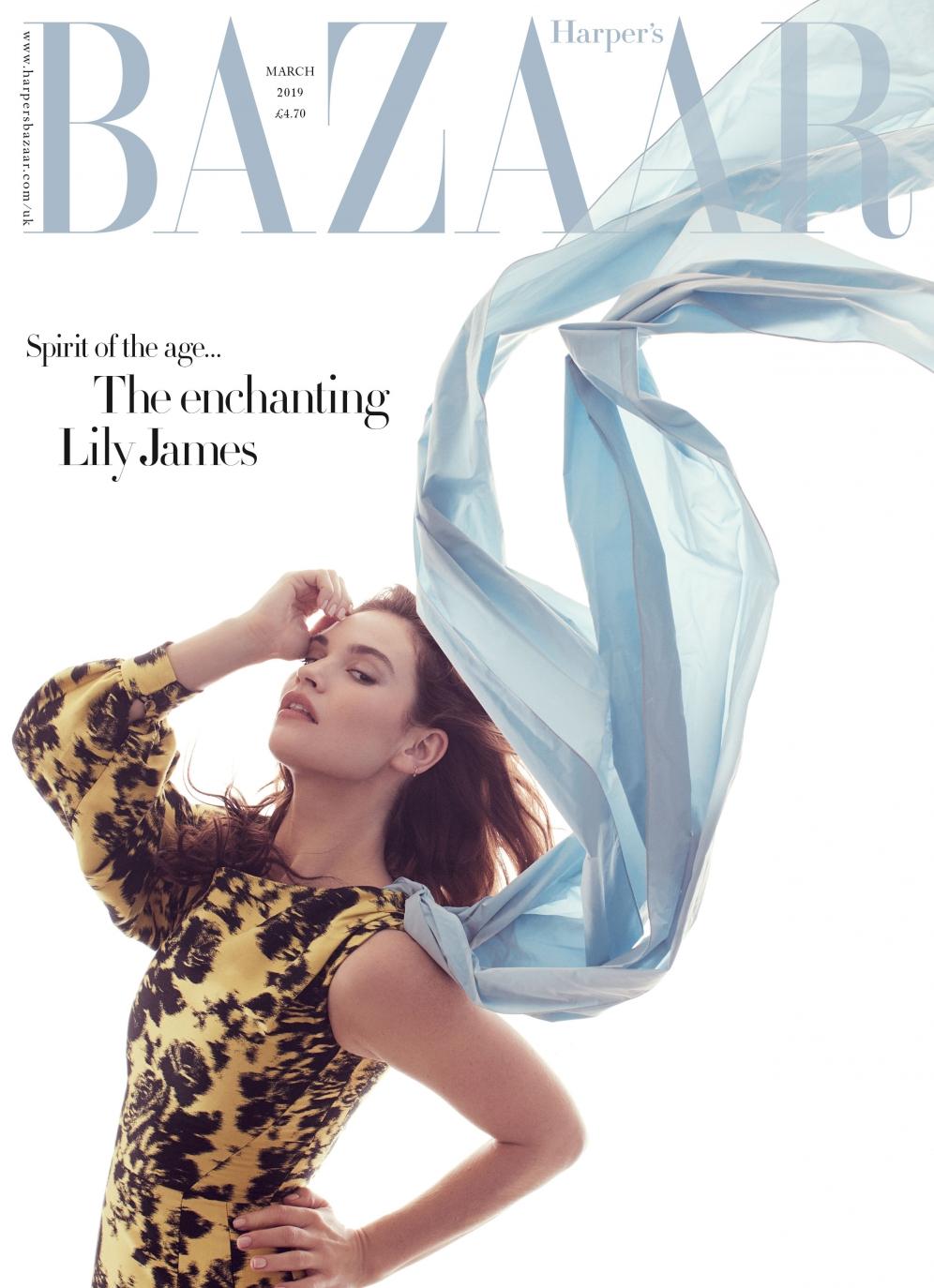 Lily James | Harpers Bazaar