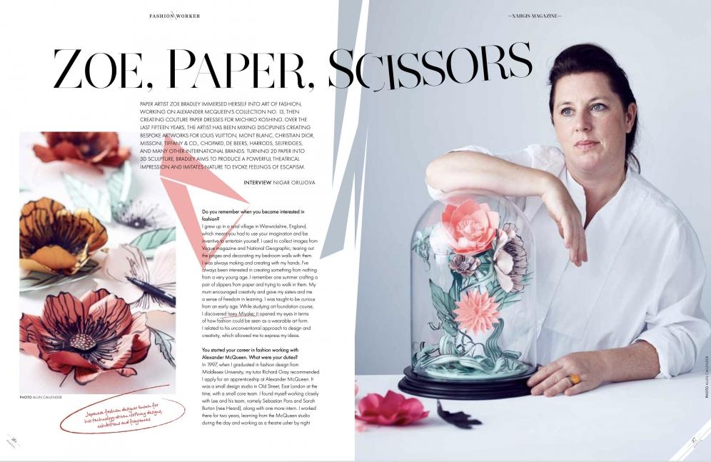 Nargis Magazine | Zoe, Paper, Scissors